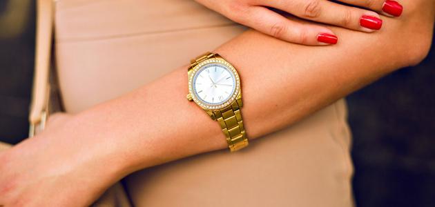 Dámské elegantní hodinky.